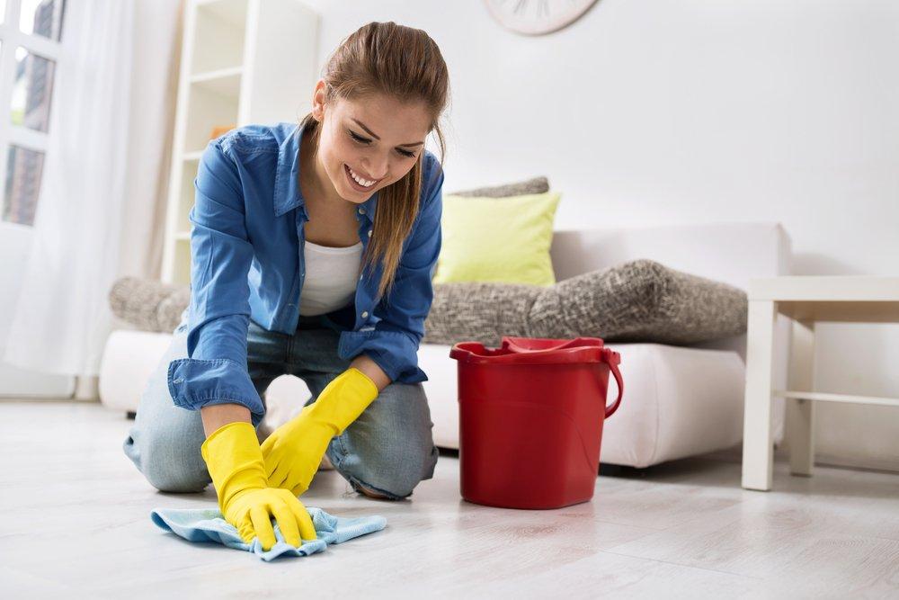 мытье полов хозяйственным мылом
